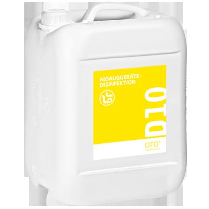 Купить концентрат для дезинфекции аспирационных систем D10, 10литров.